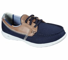 Skechers 'GOwalk Lite - Playa Vista' Ladies Shoes (Navy/Tan)