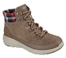 Skechers 'On The Go Glacial Ultra' Ladies Boots (Dark Taupe)