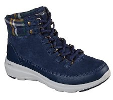 Skechers 'On The Go Glacial Ultra' Ladies Boots (Navy)
