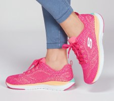 Skechers 'Ultra Groove' Ladies Trainers (Pink)