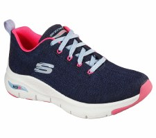 Skechers 'Arch Fit - Comfy Wave' Ladies Trainers (Navy/Pink)