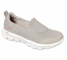 Skechers 'GOwalk Evolution Ultra - Rapids' Ladies Shoes (Taupe)