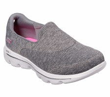 Skechers 'GOwalk Evolution Ultra - Amazed' Ladies Sport Shoes (Grey)