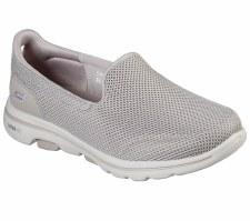 Skechers 'GOwalk 5' Ladies Shoes (Taupe)