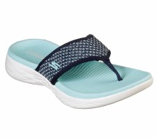 Skechers 'On the GO 600 - Glossy' Ladies Sandals (Navy)