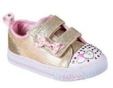 Skechers 'Twinkle Toes: Twinkle Lite - Mini Mermaid' Girls Shoes (Gold)