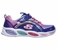 Skechers 'S Lights: Shimmer Beams' Girls Trainers (Blue Multi)