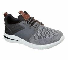 Skechers 'Delson 3.0 - Cicada' Mens Shoes (Grey/Black)