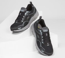Skechers 'GOrun Consistent' Mens Trainers (Black/Grey)