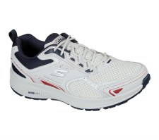Skechers 'GOrun Consistent - Vestige' Mens Trainers (White/Navy)