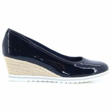 Tamaris '22441' Ladies Wedge Shoes (Navy)