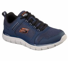 Skechers 'Track - Knockhill' Mens Shoes (Navy/Orange)