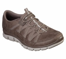 Skechers 'Gratis - Fine Taste' Ladies Shoes (Dark Taupe)