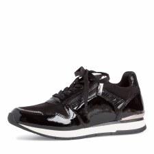 Tamaris '23603' Ladies Shoes (Black Patent)