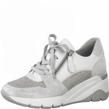 Jana '23702' Ladies Trainers (White/Grey)