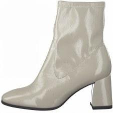 Tamaris '25356' Ladies Ankle Boots (Grey Patent)