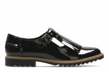 Clarks 'Griffin Mia' Ladies Shoes (Black Patent)