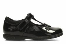 Clarks 'Trixi Beau' Girls School Shoes (Black Patent)