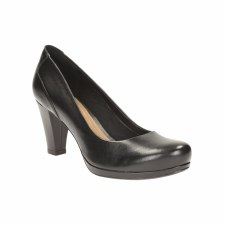 Clarks 'Chorus Chic' Ladies Wide Fitting Heels (Black)
