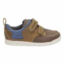Clarks 'Crazy Jay' Boys First Shoes (Tan)