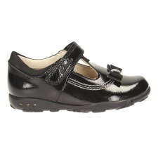 Clarks 'Ella Ruby' Girls First Shoe (Black)