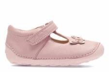 Clarks 'Little Wow' Girls Pre Walker Shoes (Baby Pink)