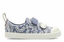 Clarks 'Halcy Hati Pre' Girls Canvas Shoes (Denim Combi)