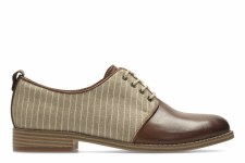 Clarks 'Zyris Toledo' Ladies Shoes (Dark Tan Leather)