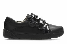 Clarks 'LilFolk Bel Inf' Girls School Shoes (Black)