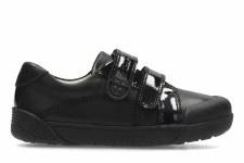 Clarks 'LilFolk Bel Inf' Girls School Shoes (Black)