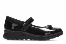 Clarks 'MarielWish Inf' Girls School Shoes (Black Patent)