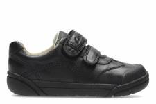 Clarks 'Lilfolk Zoo Inf' Boys School Shoes (Black)