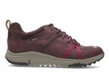 Clarks 'Tri Trek' Ladies Trainers (Burgundy)