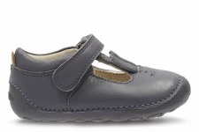 Clarks 'Little Glo' Girls First Shoes (Anthracite)