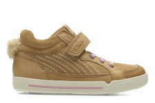 Clarks 'LilfolkBoo' Girls Pre Shoes (Tan)