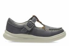 Clarks 'CloudMocha' Girls Pre Shoes (Grey)