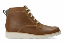 Clarks 'Dexy Top' Boys Boots (Brown)