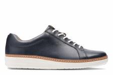 Clarks 'Amberlee Rosa' Ladies Casual Sneakers (Navy)