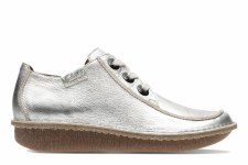 Clarks 'Funny Dream' Womens Shoes (Pewter Metallic)