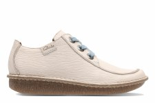 Clarks 'Funny Dream' Womens Shoes (White Nubuck)