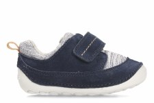 Clarks 'Tiny Move' Boys Pre Shoes (Blue Leather)