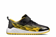 Clarks 'Aeon Pace Kids' Childrens Trainers (Black/Yellow)