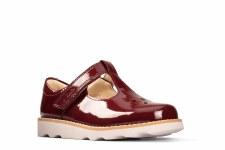 Clarks 'Crown Wish Toddler' Girls First Shoes (Merlot)