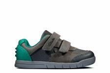Clarks 'Rex Quest Toddler' Boys First Shoes (Dark Grey)