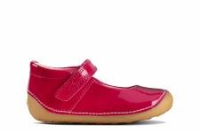 Clarks 'Tiny Mist' Girls Pre Shoes (Raspberry Combi)