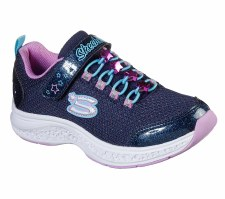 Skechers 'Star Speeder - Jewel Kicks' Girls Trainers (Navy Multi)