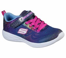 Skechers 'GOrun 600 - Shimmer Speed' Girls Trainers (Navy Multi)