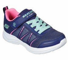 Skechers 'S Lights: Glimmer Kicks - Shimmer Brights' Girls Trainers (Navy Multi)