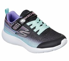 Skechers 'Dyna-Lite - Shimmer Steaks' Girls Trainers (Black Multi)