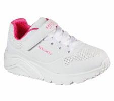 Skechers 'Street Uno Lite' Girls Trainers (White)